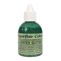 View the GREEN GLITTER 60ml airbrush liquid colouring online at Cake Stuff