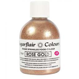 View the ROSE GOLD Sugar Sprinkles edible lustre icing colour 100g online at Cake Stuff