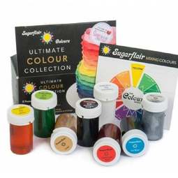View the ULTIMATE COLOUR COLLECTION 8 pc paste gel icing colouring set online at Cake Stuff