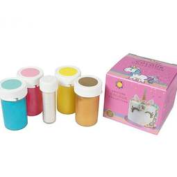 View the UNICORN COLOUR COLLECTION 5 pc icing colouring set online at Cake Stuff