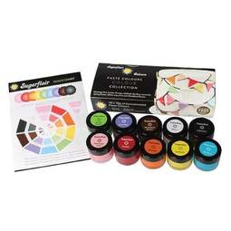 View the 10 PASTE COLOUR COLLECTION concentrated icing colouring set online at Cake Stuff