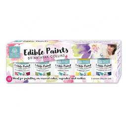 View the SET 1 - 5 Edible Paints by Natasha Collins icing colouring online at Cake Stuff