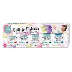 View the SET 2 - 5 Edible Paints by Natasha Collins icing colouring online at Cake Stuff