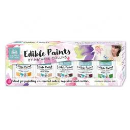 View the SET 3 - 5 Edible Paints by Natasha Collins icing colouring online at Cake Stuff