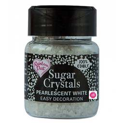 View the WHITE Sugar Crystals sparkling 100% edible sprinkles 50g online at Cake Stuff