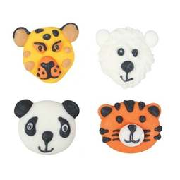 View the pk 12 ENDANGERED ANIMALS edible icing pipings cake cupcake decorations online at Cake Stuff