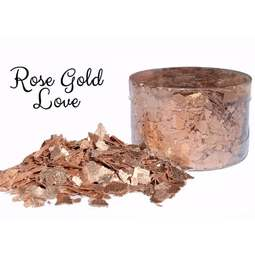 View the ROSE GOLD LOVE edible sugarcraft flakes 6g online at Cake Stuff