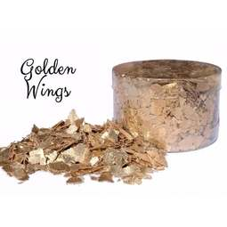 View the GOLDEN WINGS edible sugarcraft flakes 6g online at Cake Stuff