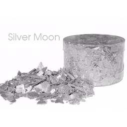 View the *CLEARANCE* SILVER MOON edible sugarcraft flakes 6g online at Cake Stuff