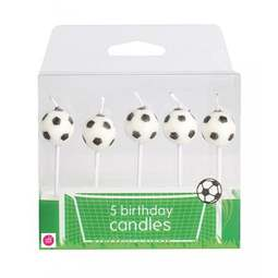 View the FOOTBALL 5 pc 3D cake pick candle set online at Cake Stuff