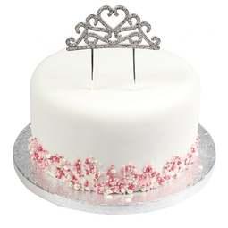 View the TIARA diamante cake topper decoration pick online at Cake Stuff
