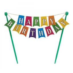 View the HAPPY BIRTHDAY Bunting Banner cake topper decoration online at Cake Stuff