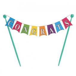 View the CONGRATULATIONS Bunting Banner cake topper decoration online at Cake Stuff