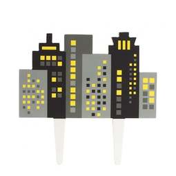 View the CITY SKYLINE gumpaste cake topper decoration pick online at Cake Stuff