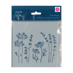 View the MEADOW professional cake icing sugarcraft stencil online at Cake Stuff