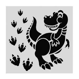 View the DINOSAUR professional cake icing sugarcraft stencil online at Cake Stuff