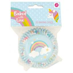 View the UNICORN foil lined cupcake baking cases pk 25 online at Cake Stuff
