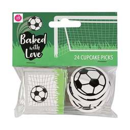 View the FOOTBALL cupcake pick decorations pk 24 online at Cake Stuff