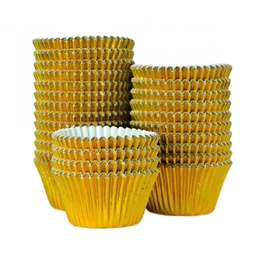 View the bulk pack 375 GOLD FOIL professional muffin baking cases online at Cake Stuff
