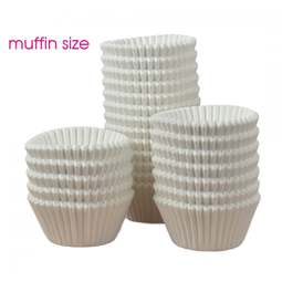 View the bulk pack 500 WHITE professional muffin baking cases online at Cake Stuff