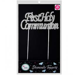 View the FIRST HOLY COMMUNION diamante cake topper decoration pick online at Cake Stuff