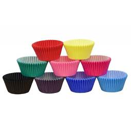View the large pack 144 RAINBOW colours professional muffin baking cases online at Cake Stuff