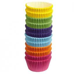 View the large pack 300 RAINBOW BRIGHT colours cupcake cases baking cups online at Cake Stuff