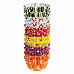 View the large pack 300 PARTY MIX cupcake cases baking cups online at Cake Stuff