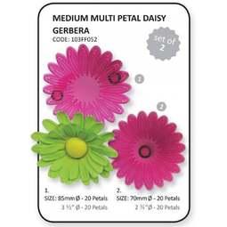 View the medium Multi Petal DAISY / GERBERA 2 pc fondant icing cutter set online at Cake Stuff