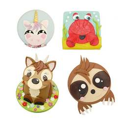 View the LARGE MIX 'N' MATCH ANIMAL FACE icing & gumpaste cutter online at Cake Stuff