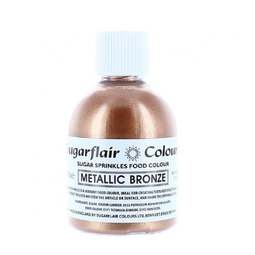 View the METALLIC BRONZE Sugar Sprinkles edible lustre icing colour 100g online at Cake Stuff