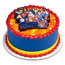 View the Justice League United cake topper decoration set online at Cake Stuff