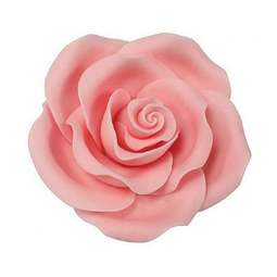 View the pk 10 x 50mm LIGHT PINK ROSE edible cake flower decorations online at Cake Stuff