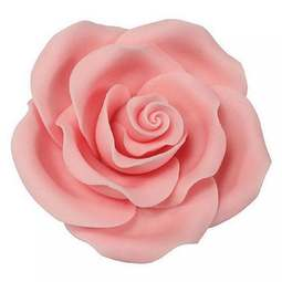 View the pk 8 x 63mm LIGHT PINK ROSE edible cake flower decorations online at Cake Stuff