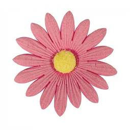View the pack 20 x 50mm PINK DAISIES edible cake flower decorations online at Cake Stuff