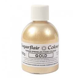 View the GOLD Sugar Sprinkles edible lustre icing colour 100g online at Cake Stuff