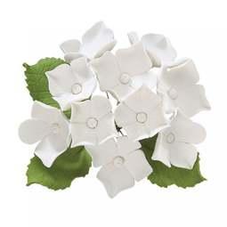View the HYDRANGEA BUNCH white sugar flower spray decoration online at Cake Stuff