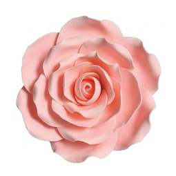 View the large 4 inch PINK ROSE sugar flower cake decoration online at Cake Stuff