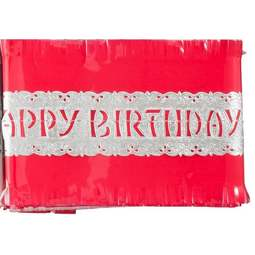 View the RED traditional paper cake frill decoration online at Cake Stuff