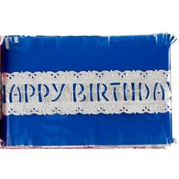 View the BLUE traditional paper cake frill decoration online at Cake Stuff