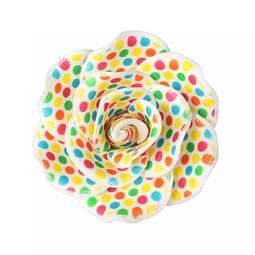 View the **CLEARANCE** BRIGHT SPOT PRINT ROSE 90mm sugar flower cake decoration online at Cake Stuff