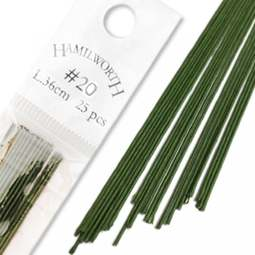 View the 20 gauge DARK GREEN sugarcraft floristry wire - pk 25 online at Cake Stuff