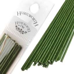 View the 16 gauge DARK GREEN sugarcraft floristry wire - pk 25 online at Cake Stuff
