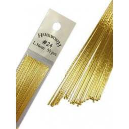 View the 24 gauge GOLD metallic sugarcraft floristry wire - pk 50 online at Cake Stuff