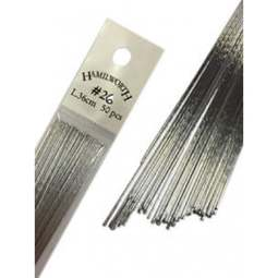 View the 26 gauge SILVER metallic sugarcraft floristry wire - pk 50 online at Cake Stuff