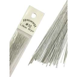 View the 32 gauge WHITE sugarcraft floristry wire - pk 50 online at Cake Stuff