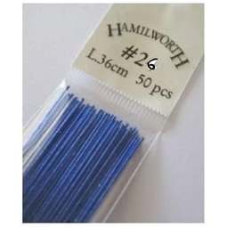 View the 26 gauge BLUE metallic sugarcraft floristry wire - pk 50 online at Cake Stuff