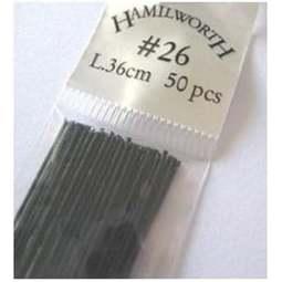 View the 26 gauge BLACK metallic sugarcraft floristry wire - pk 50 online at Cake Stuff