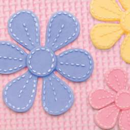 View the Stitched Flowers BLOSSOMS silicone icing mould online at Cake Stuff