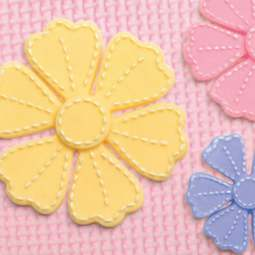 View the Stitched Flowers PRETTY PETALS silicone icing mould online at Cake Stuff